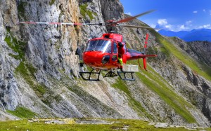 Hubschrauberlandeplatz ist auch direkt vor der Hütte vorhanden