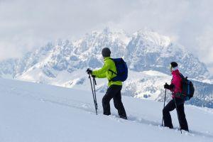 Schneeschuhwandern mit Blick auf den Wilden-Kaiser © TVB Kitzbüheler Alpen St. Johann in Tirol, Gerdl Franz